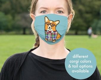 Corgi Face Mask - Corgeek Face Mask - Face Mask Coverlet - Pembroke Corgi - Cardigan Corgi - Merle corgis