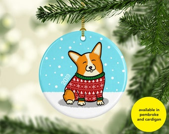 Corgi Ornament - Available in Pembroke and Cardigan Corgis - 2019