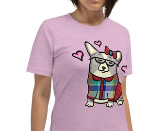 Merle Corgi Short-Sleeve Unisex T-Shirt - Corgeek girl