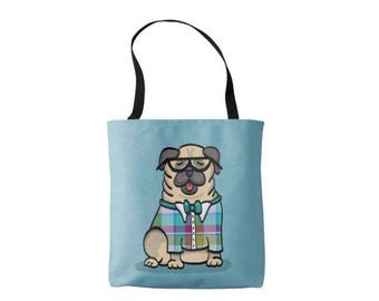 Pug Tote Bag - Pug Lover Gift