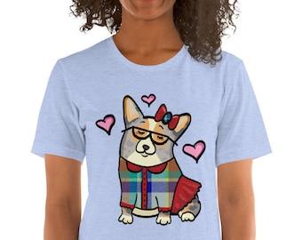 Merle tan Pembroke Corgi Short-Sleeve Unisex T-Shirt - corgeek Girl