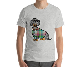Dapple Dachshund Short-Sleeve Unisex T-Shirt