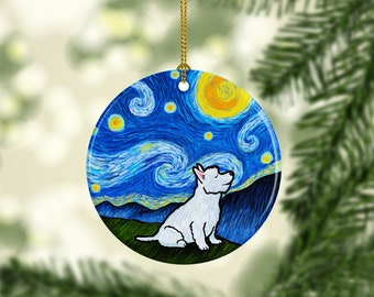 Westie Ornament - West Highland Terrier - Starry Night Westie Ornament