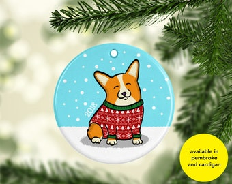 Corgi Ornament - Available in Pembroke and Cardigan Corgis