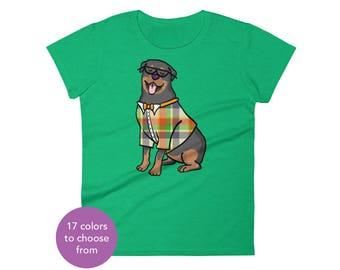 WOMEN'S Rottweiler Short Sleeve Shirt - Rottweiler Shirt - Rottweiler Gift - Rottweiler T Shirt