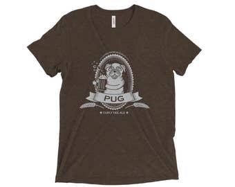 Pug Beer Shirt - Puggie shirt - Unisex