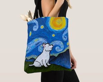 Westie West highland Terrier dog - Westie Tote Bag - Starry Baroo - Pet Lover Gift