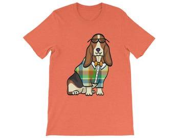 Basset Hound Shirt - Unisex - 16 Shirt Color Choices