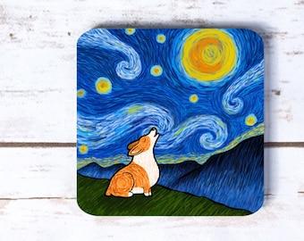 Starry Baroo Corgi Coasters - Set of 4