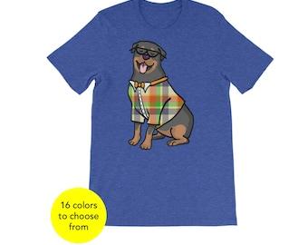 Unisex Rottweiler Short Sleeve Shirt - Rottweiler Shirt - Rottweiler Gift - Rottweiler T Shirt