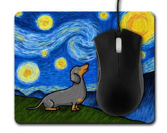 Dachshund Mouse Pad - Starry Baroo