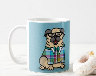 Pug Mug - Pug Coffee Mug - Pug Geek - Pet Lover Gift- Pug Mug