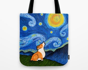 Corgi Tote Bag (Pembroke or Cardigan) - Corgi - Starry Baroo - Pet Lover Gift