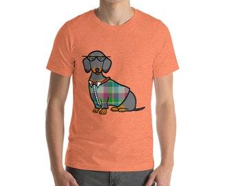 Black and Tan Dachshund Short-Sleeve Unisex T-Shirt