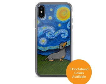 Dachshund Phone Case - Starry Baroo - Three Color choices - iPhone and Galaxy