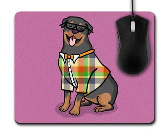 Rottweiler Mouse Pad - Choose Background Color