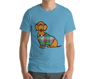 Red Dachshund Short-Sleeve Unisex T-Shirt