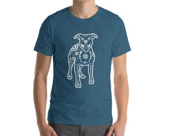 Pit Bull Shirt - Sugar Skull Pit Bull Tee Shirt - Pitbull - Unisex American Staffordshire Terrier t-shirt
