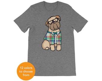 Beige Brussels Griffon Short-Sleeve Unisex T-Shirt