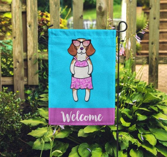 Beagle Garden Flag Girl Unique, Beagle Garden Flag