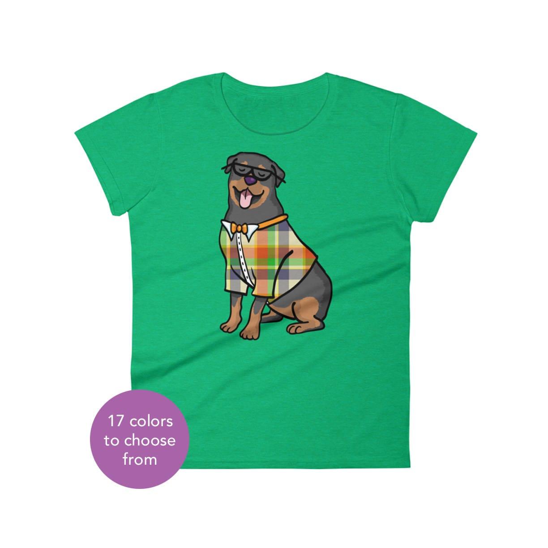 Womens Rottweiler Short Sleeve Shirt Rottweiler Shirt