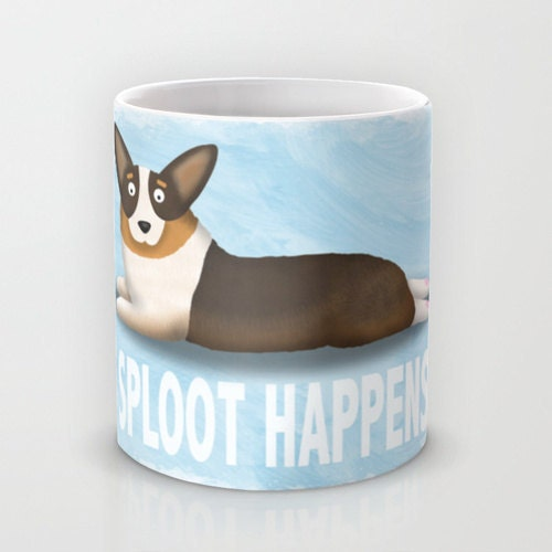 pembroke welsh corgi coffee mug corgi pet lover gift sploot