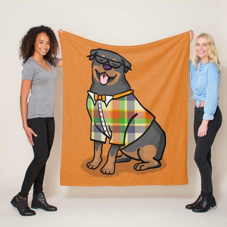 Rottweiler Gift sizes Rottweiler Blanket 50 x 60 or 60 x 80 Hipster Rottweiler Choose background Color