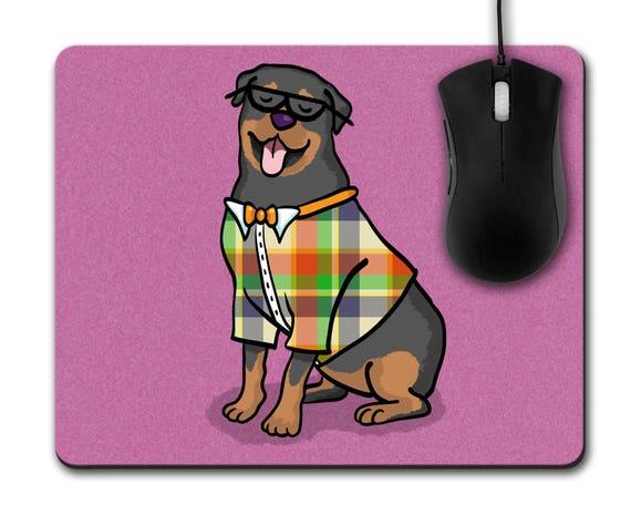 Watercolor Rottweiler Custom Mouse Pad