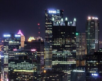 Pittsburgh Cityscape at night Print