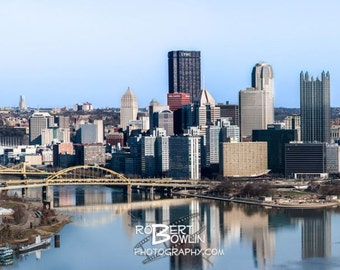 Pittsburgh Cityscape with Heinz Field Panoramic Print