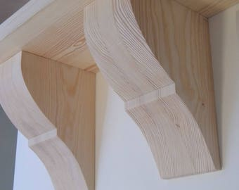 one pair solid wooden brackets
