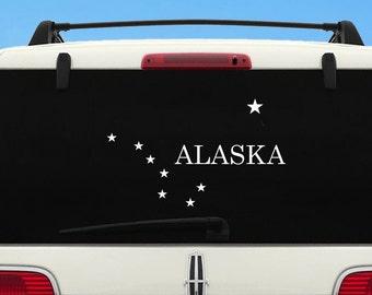 Alaskan Malamute  Dog On Board Paw Vinyl Car Decal Pet Sticker RV Script