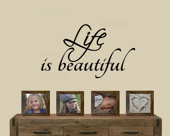 Life is Beautiful Wall Decal Life is Beautiful sticker | Etsy