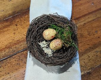 Bird Nest Napkin Ring Eggs