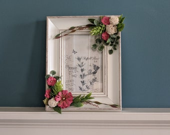 Paper Flower Embellished Picture Frame
