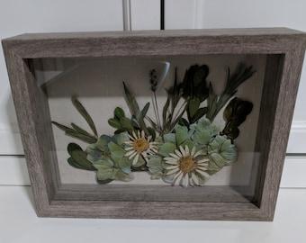 Natural Pressed Flower Shadowbox