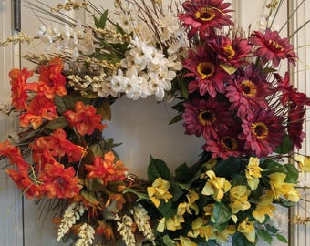 Fall Silk Flower Wreath