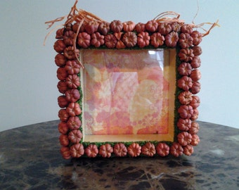 Mini Pumpkin Picture Frame-Farmhouse Decor-Home Decor-Rustic Fall Decor-Putka Pods Frame-Fall Picture Frame-Housewarming Gift