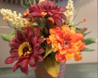 Fall Silk Flower Arrangement