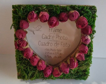 Mini Heart Frame with Dried Roses
