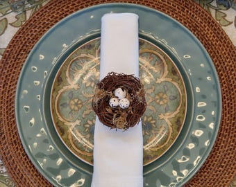 Napkin Rings - Bird's Nest set of 3
