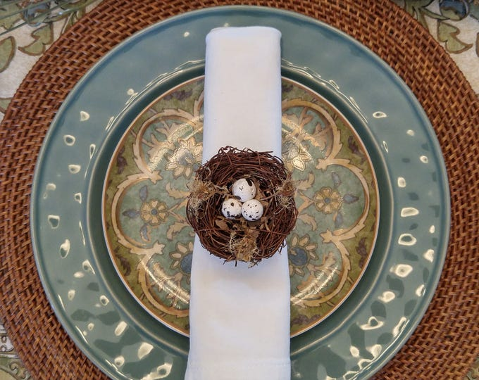 Featured listing image: Bird's Nest Eggs Napkin Ring Spring/Easter