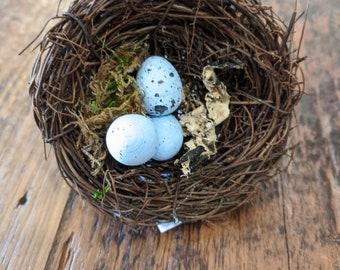 Napkin Rings - Bird's Nest with Eggs