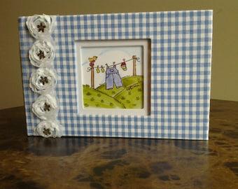 Photo Album Gingham Baby Gift