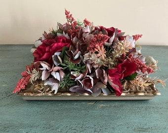 Artificial Hydrangea Rose Heather Table Centerpiece