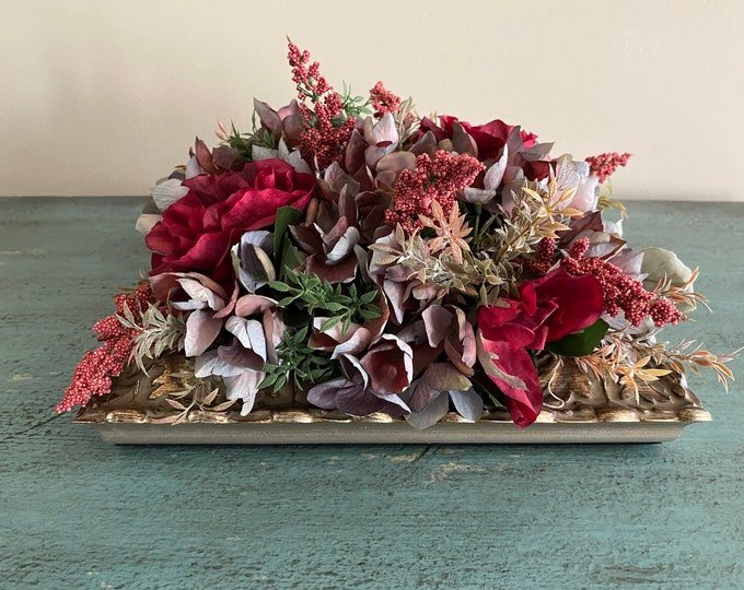 Featured listing image: Artificial Hydrangea Rose Heather Table Centerpiece