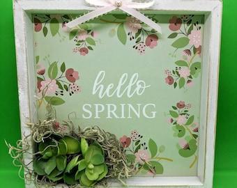 Hello Spring Succulent Wall Decor