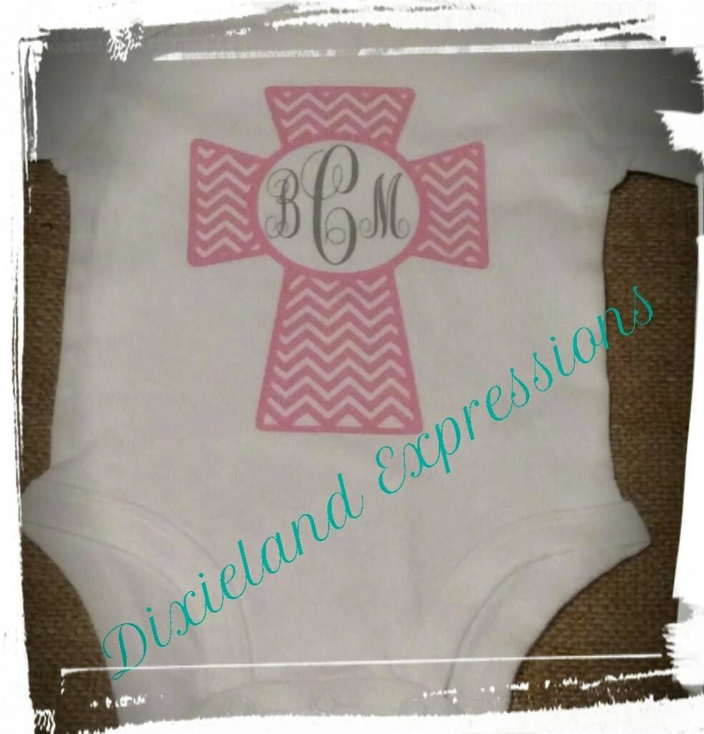 f6a010787ff27 Monogrammed Baby girl onesie, Personalized onesie, Baby girl ...