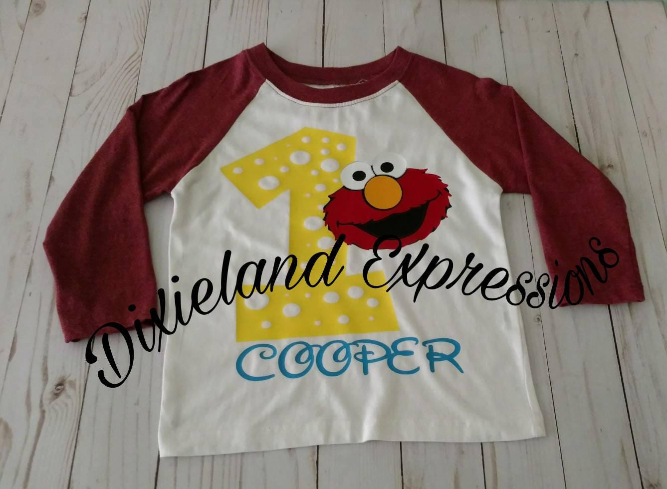 Elmo First Birthday Shirt Baseball Tee Party 2nd Kids 1st Shirts Sesame Street