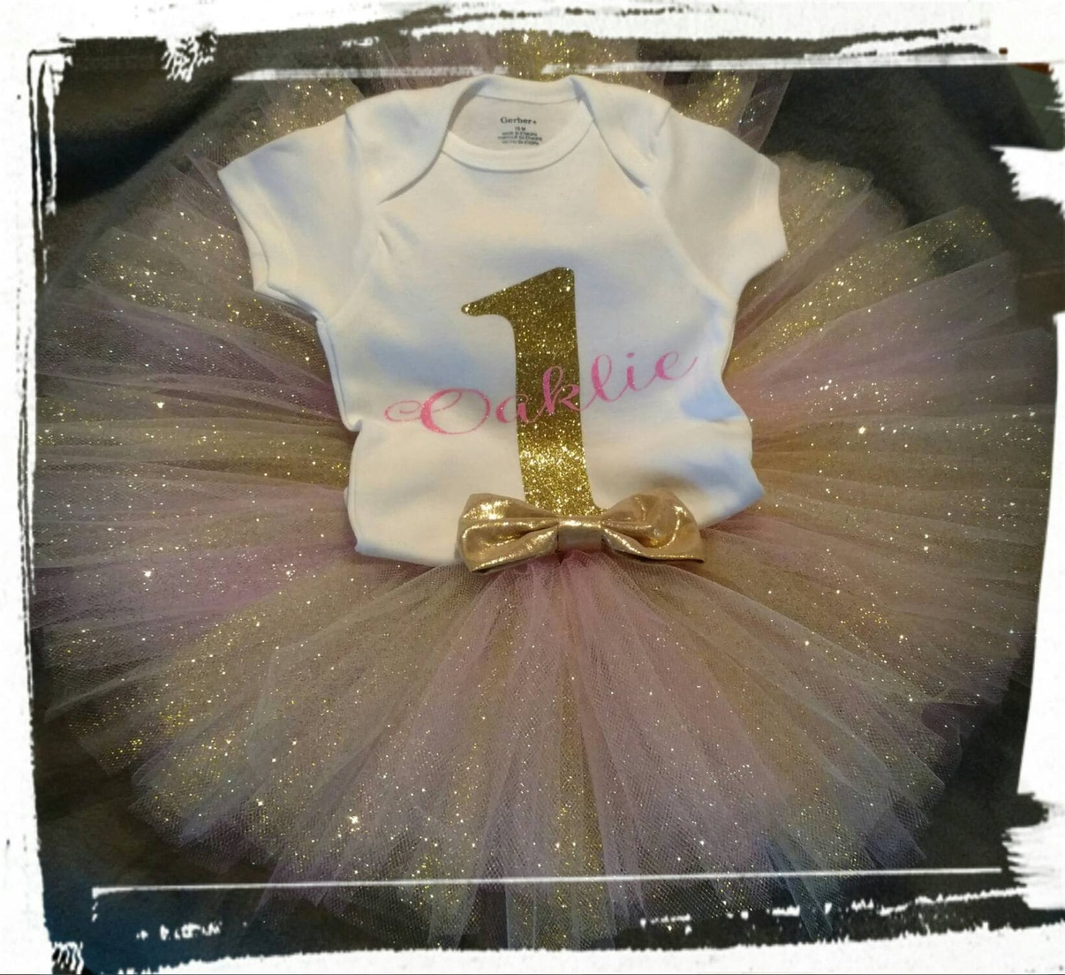 937a135aa First birthday girl outfit- 1st birthday girl outfit- First birthday Gold  Tutu ...